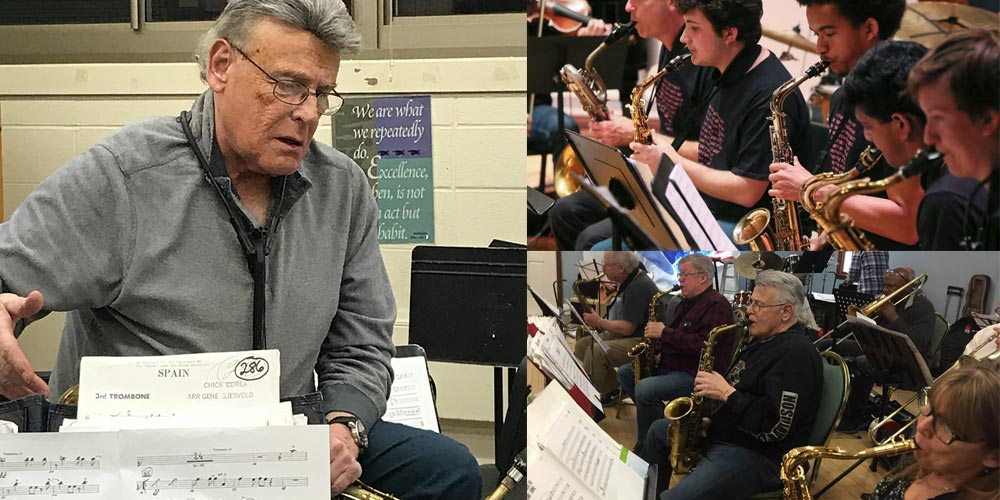 Mike Ficco is well known as a clinician of jazz music on Long Island.
